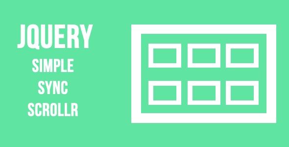 jQuery Simple Sync Scrollr