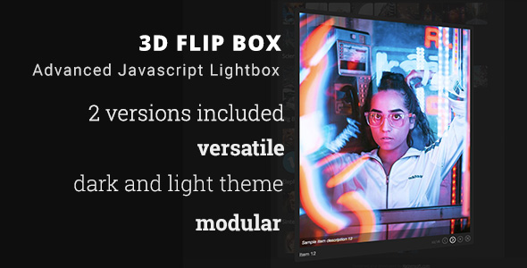 3D Flip Box Bundle - Advanced Javascript Lightbox