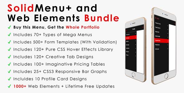 SolidMenu+ | Responsive Mega Menus + Web Elements Bundle
