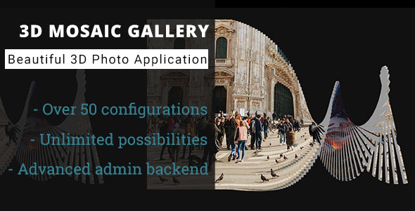 3D Mosaic Gallery - Advanced Media Gallery