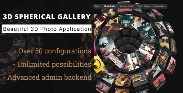 3D Spherical Gallery - Advanced Media Gallery