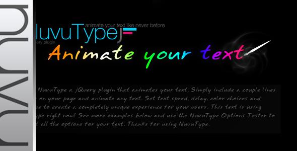 NuvuType jQuery Text Animation Plugin