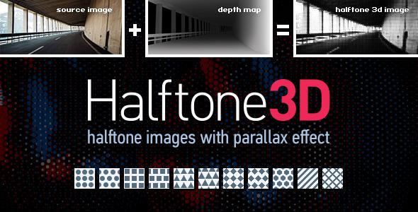 Halftone3D - 3D Parallax Halftone Image Generator