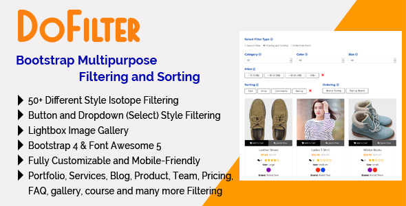 DoFilter - Bootstrap Multipurpose Filtering and Sorting