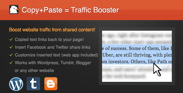 Copy-Paste Traffic Booster