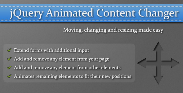 jQuery Animated Content Changer
