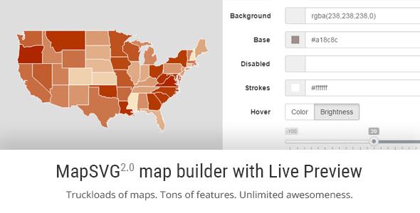 MapSVG jQuery - Responsive Vector Maps