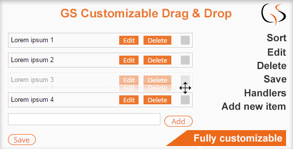 GS Customizable Drag and Drop