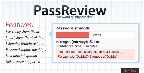 PassReview - password strength audit plugin.