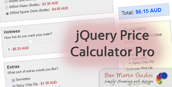 jQuery Price Calculator Pro