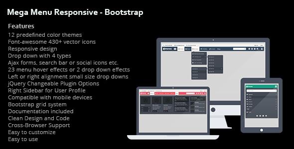 Mega Menu Responsive - Bootstrap