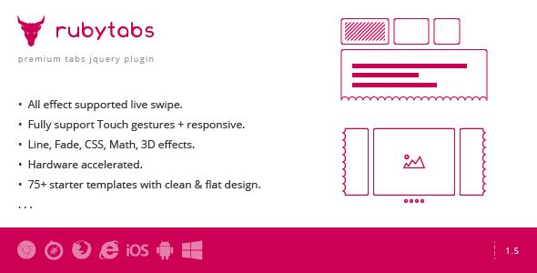 Ruby Tabs - Premium Tabs & Slider