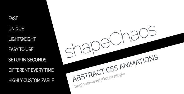 shapeChaos - Abstract CSS3 Shape Animations