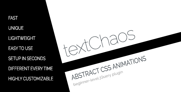 textChaos - Abstract CSS3 Text Animations