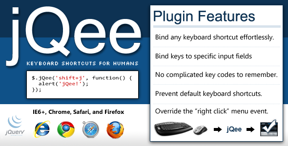 jQee - Keyboard Shortcuts for jQuery