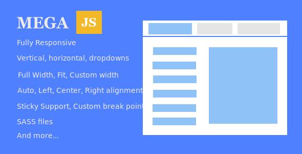 Mega.js - Turn any existing navigation to mega menu