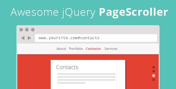 Awesome jQuery PageScroller