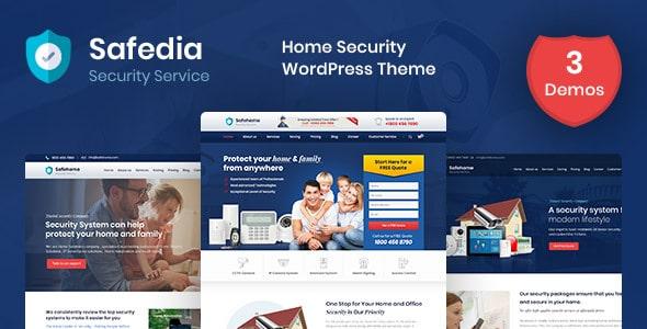 Safedia- Home Security WordPress Theme