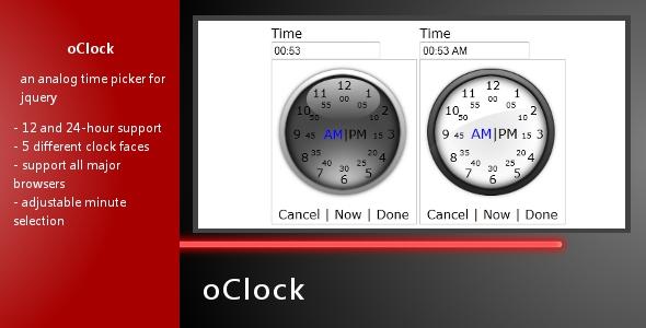oClock - Analog Time Picker