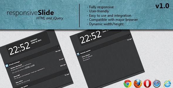 responsive Slide notification