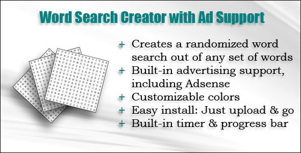 Word Search Creator with Ad Support