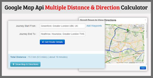Multiple Distance & Direction Calculator