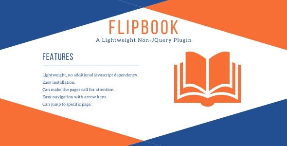 FlipBook - Lightweight Non-JQuery Plugin