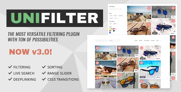 UniFilter  - Multipurpose jQuery Plugin for Filtering