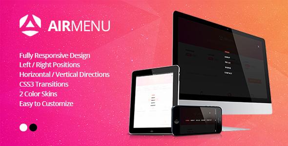 AirMenu - Responsive Fullscreen Navigation