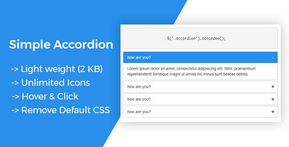 Accordee - Accordion Basic Plugin ( jQuery)