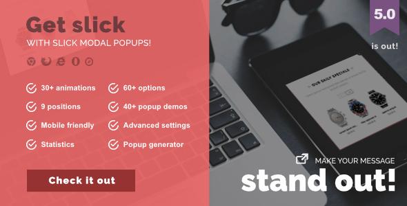 Slick Modal - CSS3 Powered Popups