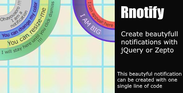 Rnotify - Round SVG Notifications Plugin.