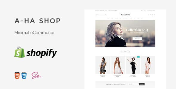 A-ha Clean & Minimal Shopify Theme (Sections Ready)