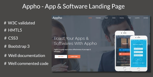 Appho - App and Software Landing Page