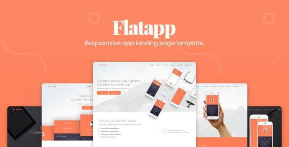 FlatApp - App Landing Page