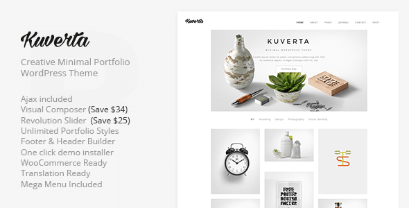 Kuverta - Minimal Portfolio WordPress Theme