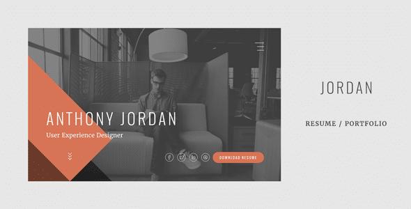 Jordan - Modern Onepage Resume / Portfolio Template
