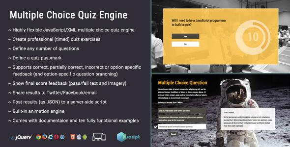 Multiple Choice Quiz Engine