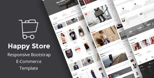 HappyStore | Simple eCommerce HTML Template