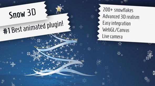 Snow 3D - Christmas jQuery Plugin