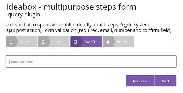 Ideabox - Multipurpose Step Form