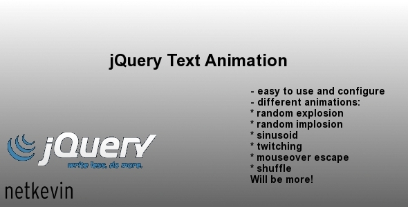 jQuery Text Animation