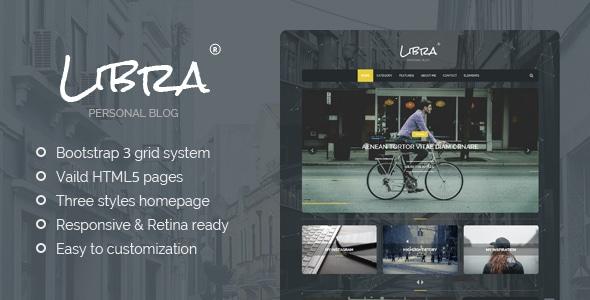 Libra - Personal Blog WordPress Theme
