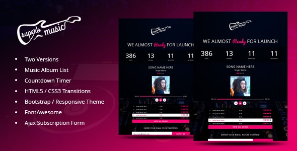 Superb Music - Coming Soon Responsive Template