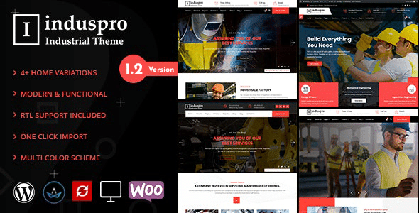 Induspro - Factory and Industrial WordPress Theme