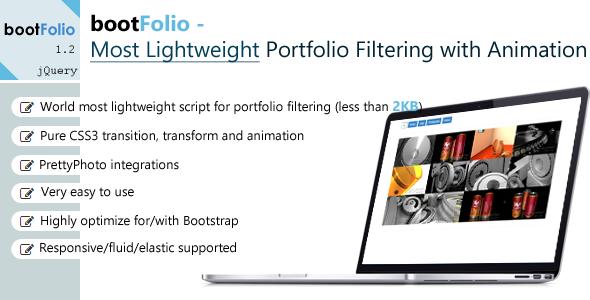 bootFolio - Most Lightweight Portfolio Filtering