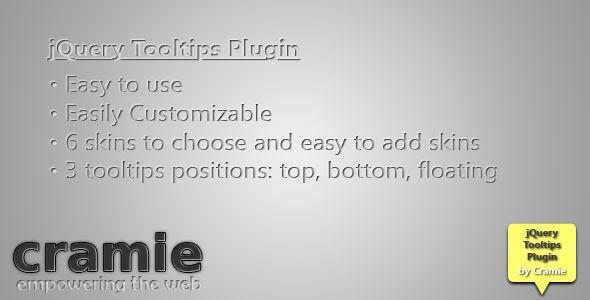 Cramie jQuery Tooltips Plugin