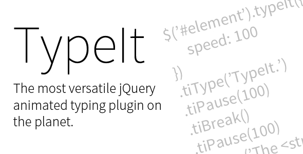 TypeIt. The Most Versatile jQuery Animated Typing Plugin on the Planet