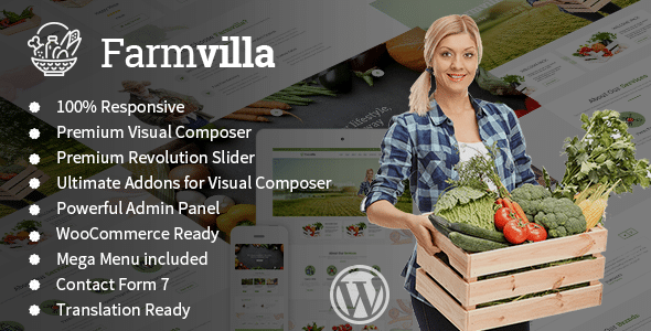 Farmvilla - Organic Food WordPress Theme