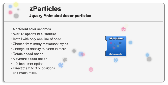 zParticles - Jquery Animated Decor particles